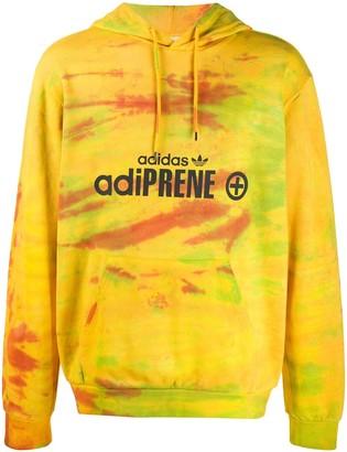 adidas Adiprene tie-dye print hoodie