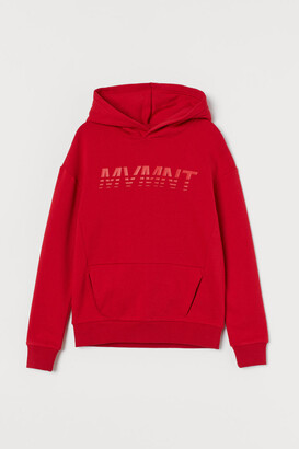 H&M Oversized Graphic Hoodie - Red