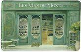 "Bacova Les Vins du Monde"" 23-Inch x 36-Inch Memory Foam Kitchen Mat in Teal"