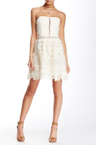 Romeo & Juliet Couture Strapless Fit & Flare Lace Dress