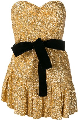 The Attico Sequined Mini Dress
