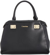 Calvin Klein Top Handle Leather Satchel