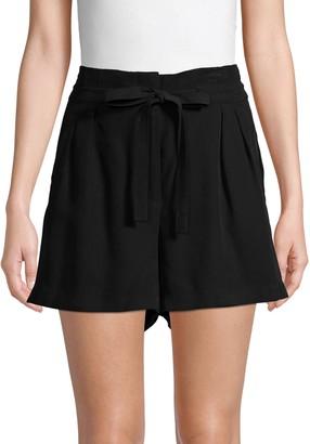 BCBGMAXAZRIA Tie Paperbag Shorts