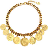 Ben-Amun Ben Amun Chain-Link Coin Drop Necklace