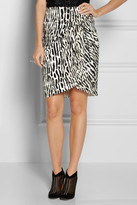 Giambattista Valli Leopard-jacquard and organza skirt