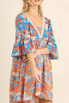 Umgee USA Orange Floral Dress