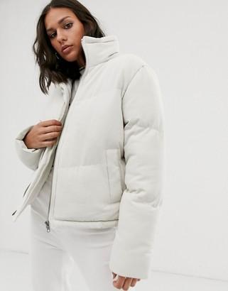 NATIVE YOUTH high neck padded jacket-Cream