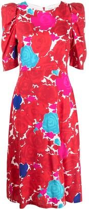 P.A.R.O.S.H. floral midi dress