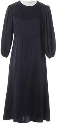 Mansur Gavriel Navy Silk Dress for Women
