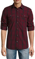 i jeans by Buffalo Long Sleeve Plaid Button-Front Shirt