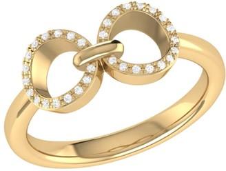 Lmj Binoculars Ring In 14 Kt Yellow Gold Vermeil On Sterling Silver