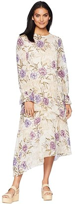 ASTR the Label Mona Dress (Cream/Lilac Floral) Women's Dress