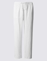 M&S Collection Linen Rich Beach Wide Leg Trousers