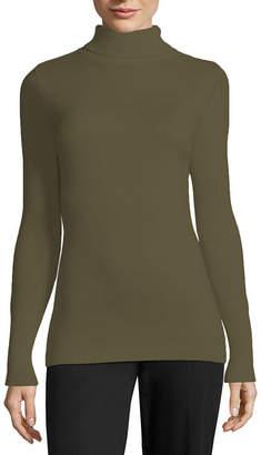WORTHINGTON Worthington Long Sleeve Turtleneck Sweater - Tall