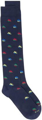 Etro Jacquard Logo Pattern Socks