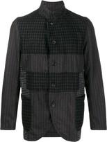 Comme Des Garçons Shirt patchwork checked blazer