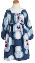 Tea Collection 'Chiyoko' Floral Print Smocked Dress (Toddler Girls, Little Girls & Big Girls)