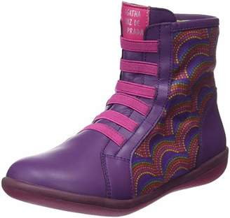 Agatha Ruiz De La Prada Girls' 181939 Ankle Boots, Purple Morado 10UK Child