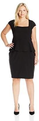 Single Dress Women's Plus Size Peplum Fitted Dress