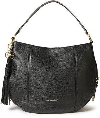 MICHAEL Michael Kors Logo-appliqued Textured-leather Shoulder Bag