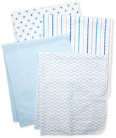 Hudson Baby Newborn Boys) 4-Pack Receiving Blankets
