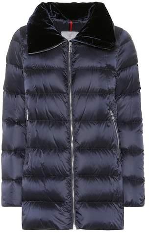 Moncler Torcol velvet-collar down coat