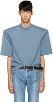 Vetements Blue are We Having Fun Yet Football Shoulder T-shirt
