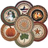 Earth Rugs 56-328AS All Seasons Round Basket and 6-Trivets
