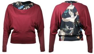 Format Circ Sweater - dunkelblau, birds / S