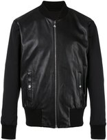 Versus zipped leather jacket - men - Cotton/Lamb Skin/Polyamide/Viscose - 46