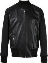 Versus zipped leather jacket - men - Lamb Skin/Polyamide/Cotton/Polyester - 46