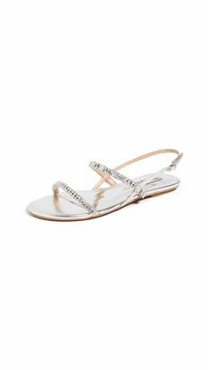 Badgley Mischka Women's Slingback Flat Sandal