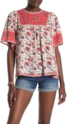 Flying Tomato Printed Short Sleeve Top