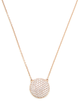 14K Rose Gold & 0.78 Total Ct. Diamond Disc Pendant Necklace