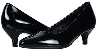 Trotters Kiera (Black Patent) Women's 1-2 inch heel Shoes