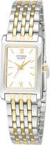 JCPenney Citizen Quartz Citizen Womens Rectangular Two-Tone Stainless Steel Bracelet Watch EJ5854-56A
