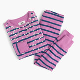 J.Crew Girls' pajama set in stripes and stars