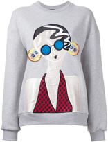 Holly Fulton Lady patch sweatshirt - women - Cotton - S