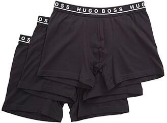 HUGO BOSS Boxer Brief 3-Pack CO/EL 10146061 01 (Black) Men's Underwear