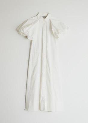 Lee Mathews Women's Elsie Puff Sleeve Maxi Dress in Natural, Size 2 | 100% Better Cotton Initiative Cotton