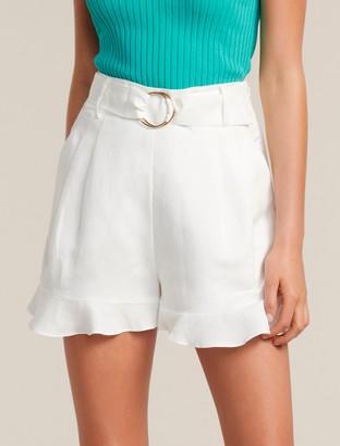 Forever New Rebecca Linen-Blend Flippy Shorts - Porcelain - 4