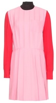 Miu Miu Silk And Wool-blend Dress