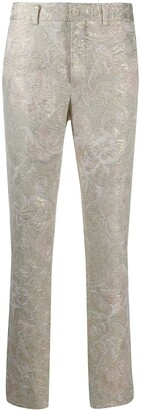 Comme des Garcons Floral Patterned Skinny Trousers