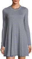 BCBGeneration Striped Jersey Dress, Blue/White