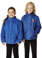 F&F Unisex Embroidered Reversible School Fleece Jacket