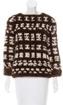 J. Mendel Knitted Mink Sweater