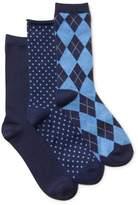 Clarks Womens 3-Pack Argyle Socks
