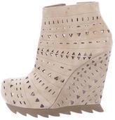 Camilla Skovgaard Laser Cut Wedge Ankle Boots
