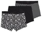 New Look 3 Pack Black Abstract Print Trunks