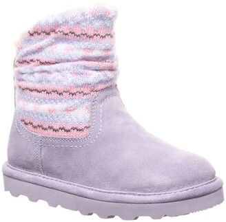 BearPaw Virginia Faux Shearling Lined Suede Boot